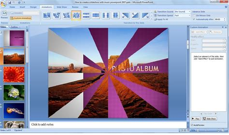 How To Make A Slideshow Of Pictures On A Pc powerpoint how to make a picture slideshow in