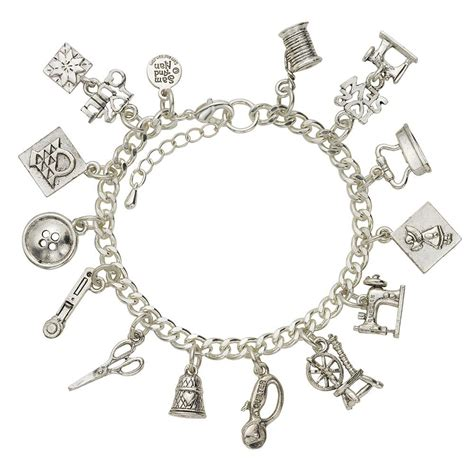 sewing and quilting charm bracelet samandnan