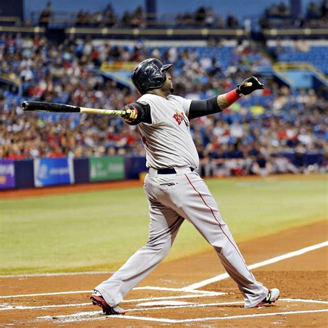 david ortiz of boston sox hits 500th career home run