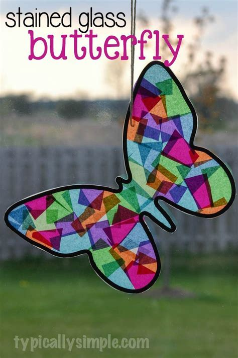 Butterfly Construction Paper Craft - 261 best butterfly arts and crafts for images on