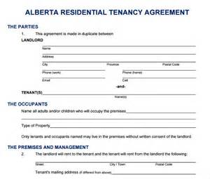 printable lease agreement 6 documents download for free