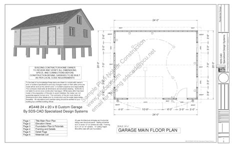 garage plans free g448 24 x 20 x 8 free pdf garage plans blueprints