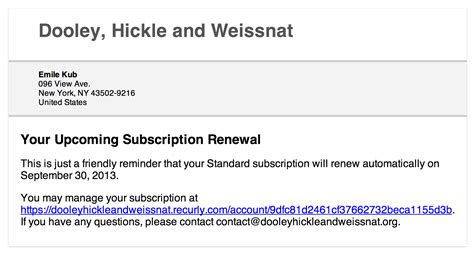 subscription email template email customers when a subscription renews or trial ends