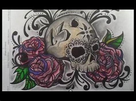 imagenes de calaveras y calabazas dibujar calavera con rosas youtube