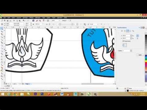 membuat logo dengan corel draw x7 cara membuat logo tut wuri handayani dengan coreldraw