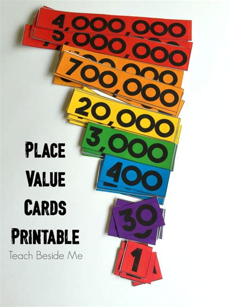 Printable Place Value Card Template by Printable Place Value Cards Teach Beside Me