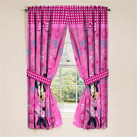 minnie mouse girls bedroom curtains set   walmartcom