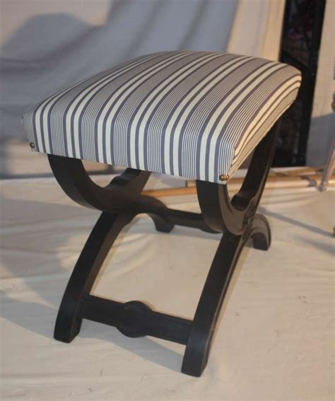 form bench ebonized curule form bench at 1stdibs
