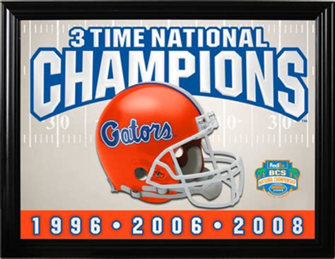 Florida Gators National Chions Framed Florida Gators National Chions Framed Mirror At