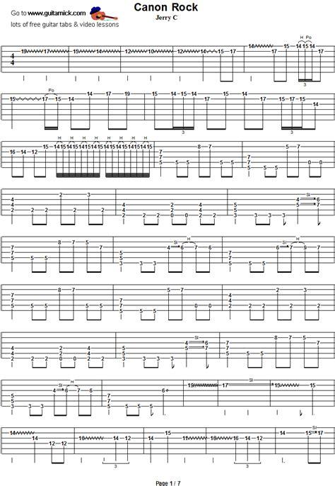 canon rock jerryc guitar tab guitarnick com