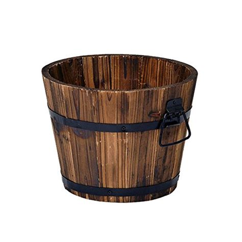 Small Whiskey Barrel Planter by Rustic Wood Whiskey Barrel Planter Box Small Wooden Garden Flowe
