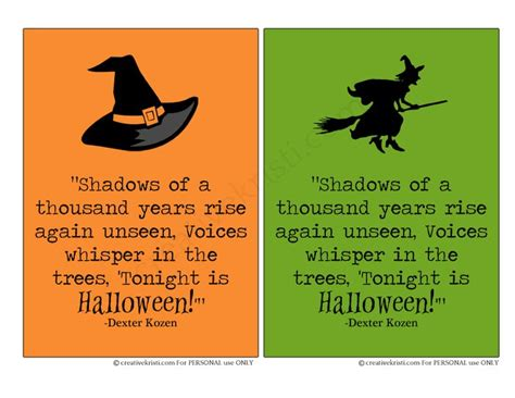 free printable halloween quotes halloween printable 5x7 quote