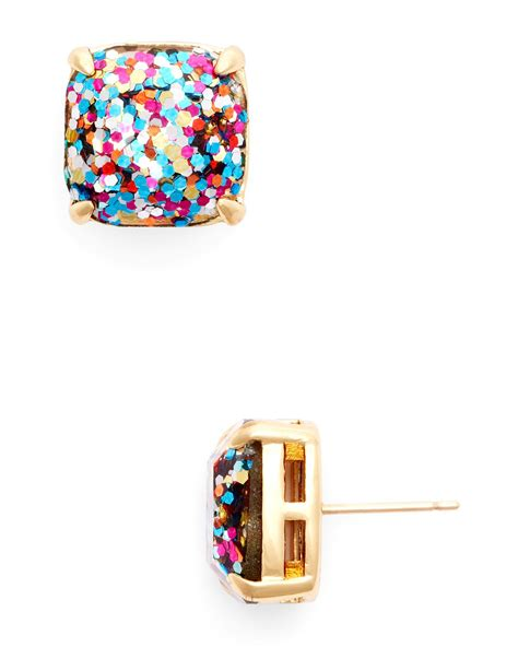 Kate Spade Earing 0oru1624 lyst kate spade new york small square glitter stud earrings