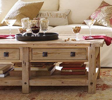 Benchwright Reclaimed Wood Coffee Table Wax Pine Finish Pottery Barn Benchwright Coffee Table
