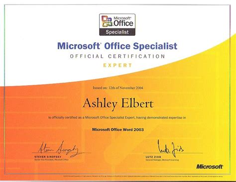 Ms Office Certification by Microsoft Office Specialist Certification