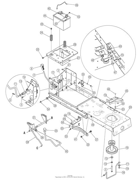 troy bilt pony mower parts diagram troy bilt 13an77tg766 pony 2006 parts diagram for pto