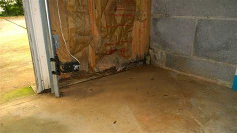 Garage Door Leaks Basement Garage New Leak Repair Advice Needed
