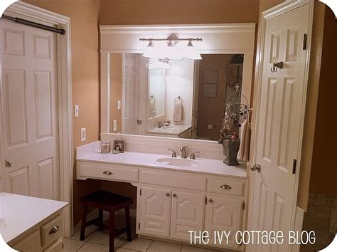 diy bathroom mirrors diy framed out a bathroom mirror for the home pinterest