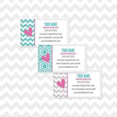 Origami Owl Returns - custom origami owl return address label rack cards also