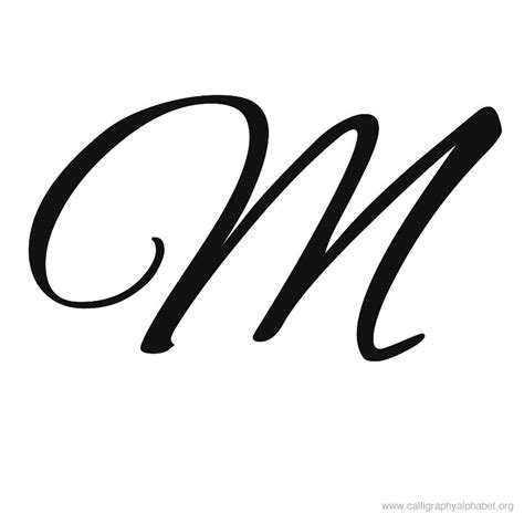 Letter M Image 9 best images of printable calligraphy letters m