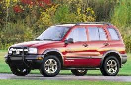 chevrolet tracker 2003 wheel & tire sizes, pcd, offset