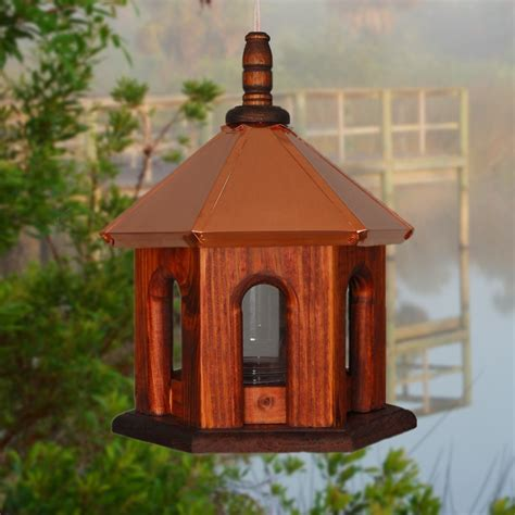 Copper Bird Feeders Bird Feeder Copper Birdfeeder Hanging Bird Feeder Rustic