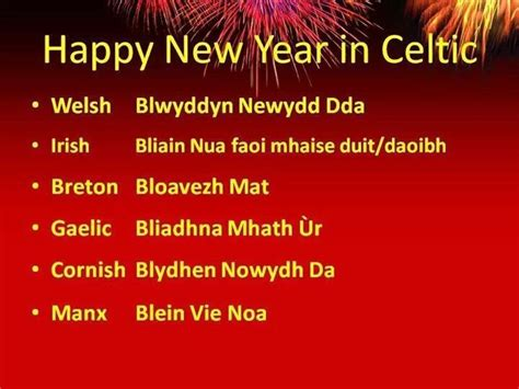happy new year in celtic gaelic celtic sayings
