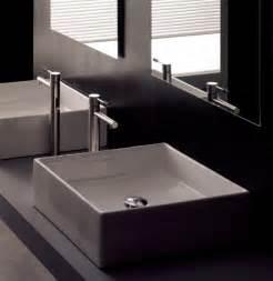 Modern square white ceramic bathroom vessel sink modern bathroom