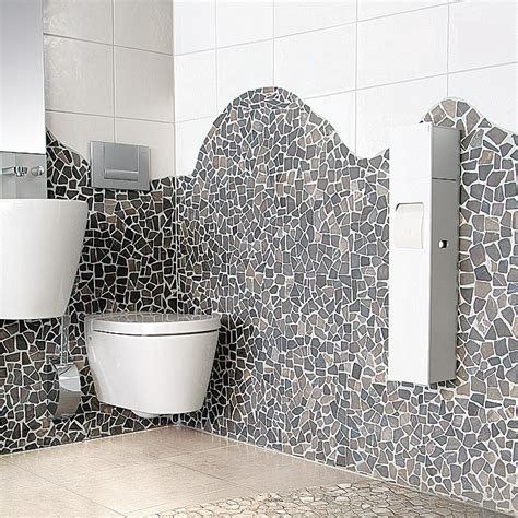 wandverkleidung bruchstein bruchmosaik marmor 30 x 30 cm grau matt bauhaus
