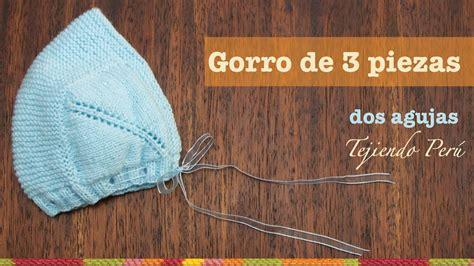 gorro acanalado tejido en dos agujas o palitos en 4 tallas una forma diferente de tejer gorro tipo capucha de 3 piezas para bebes tejido en dos