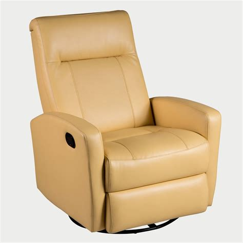 yellow leather recliner chair stefan swivel glider recliner diego yellow direct