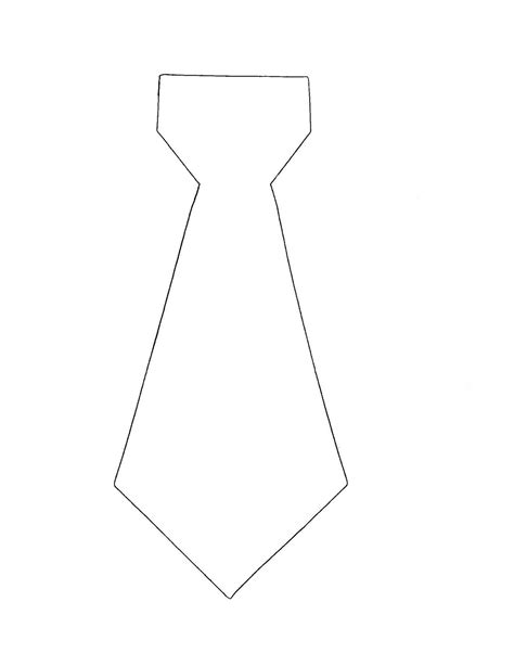 necktie template handmade with lil