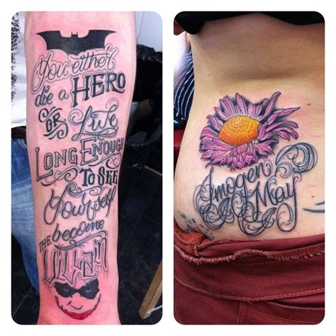 batman tattoo villain you either die a hero or you live long enough to see