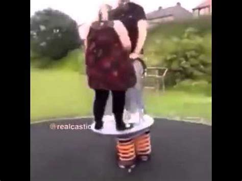 fat girl falls off swing fat girl chick launches boyfriend man to the moon sky vine