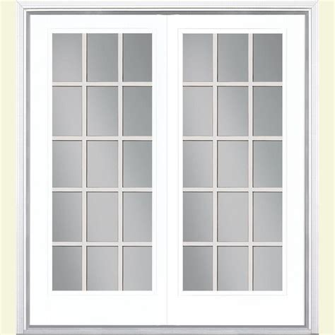 Steel Patio Doors by Masonite 60 In X 80 In Ultra White Prehung Left