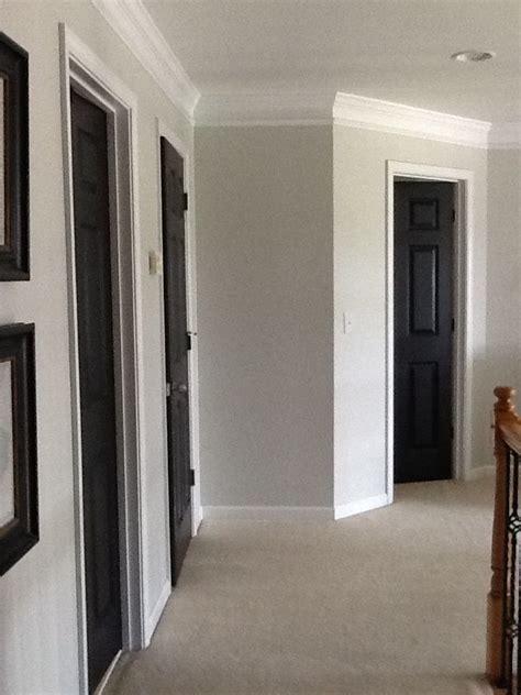 gray walls black trim black doors grey walls home etc etc