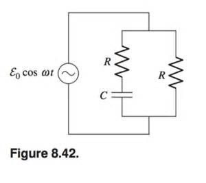 resistor capacitor emf the circuit in fig 8 42 has two equal resistors r chegg