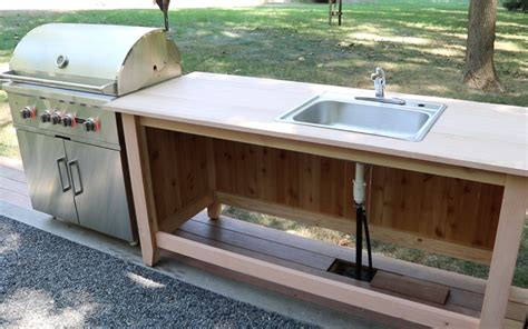 Build Kitchen Countertop Build An Outdoor Kitchen Cabinet Countertop With Sink
