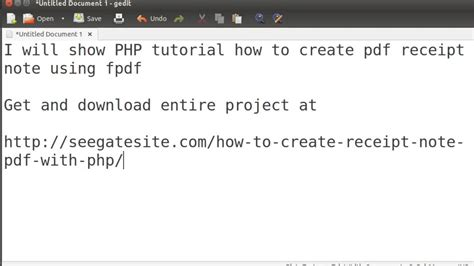 php tutorial notes pdf php tutorial how to create pdf receipt note using fpdf