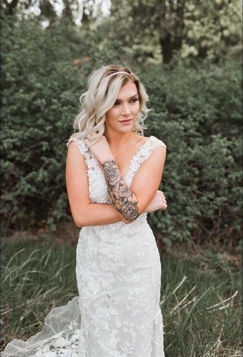 tattooed brides brides with tattoos bixbyandpine