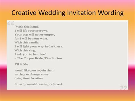 Different Wedding Invitations by Different Wedding Invitation Wording Yourweek 1d4536eca25e