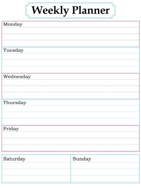daily planner template google docs homework planner template weekly calendar template daily