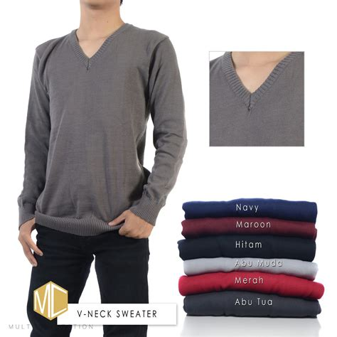 Sweater Rajut 5 Warna v neck sweater baju rajut cowok sweater rajut rajut