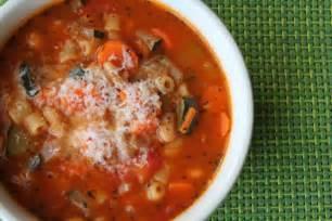 a bountiful kitchen vegetarian minestrone soup
