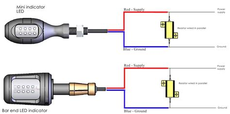 led resistor wiring diagram turn signal resistors
