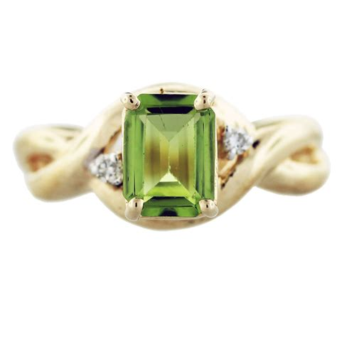 Peridot Rings by 14k Yellow Gold Peridot And Ring Boca Raton