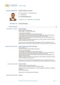 European Resume Template by Europass Cv Guillermo Blanco