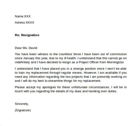 Apology Letter After Resignation apology letter after resignation 28 images resignation