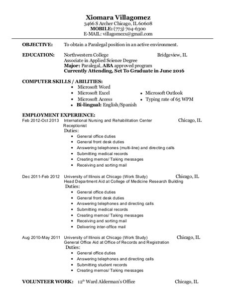 Resume Career Objective Paralegal Paralegal Resume