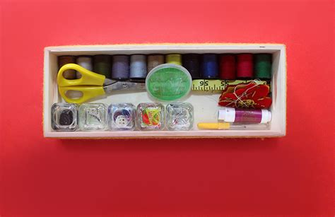how to make a sewing kit box the craftables
